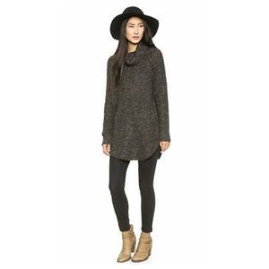 Free People Gray Dylan Tweedy Oversize Sweater XS